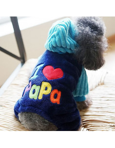 I Love Papa hundetrøje