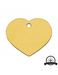 Hundetegn Hjerte Guld Large